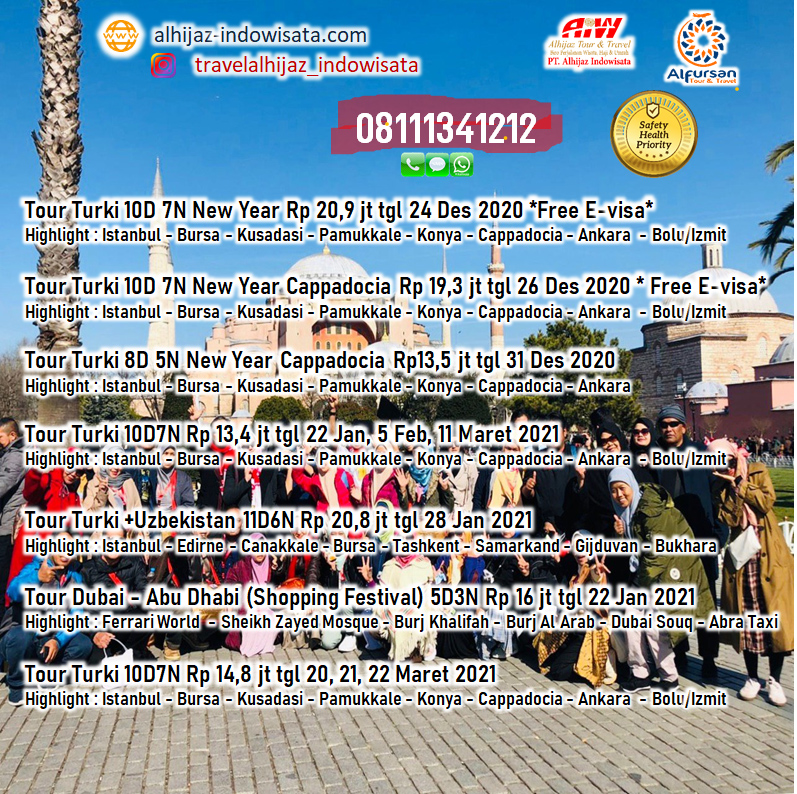TOUR WISATA MANCANEGARA 2020 2021