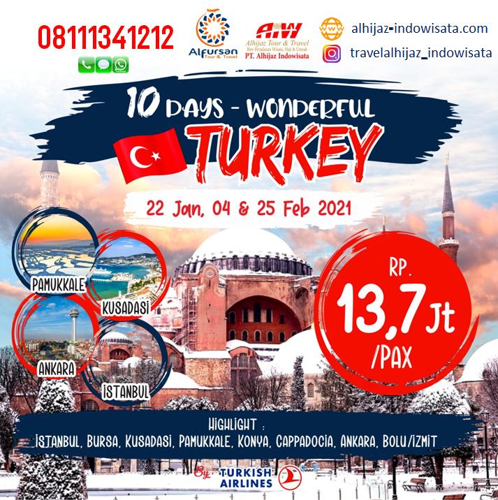 tour turki 10 hari januari februari 2021