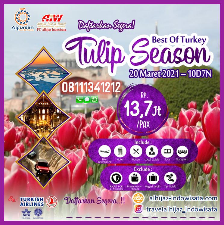 tour turki 10 hari maret 2021 tulip