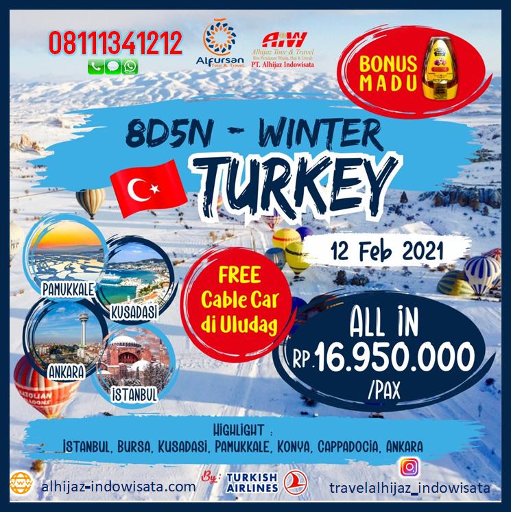 tour turki 8 hari februari 2021