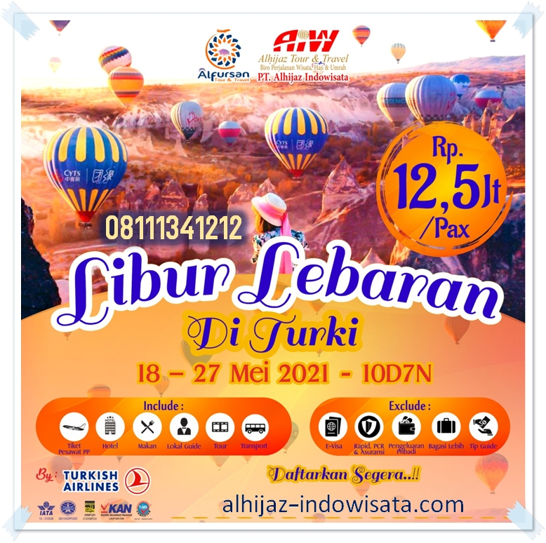 TOUR TURKI 10 HARI 18 MEI 2021
