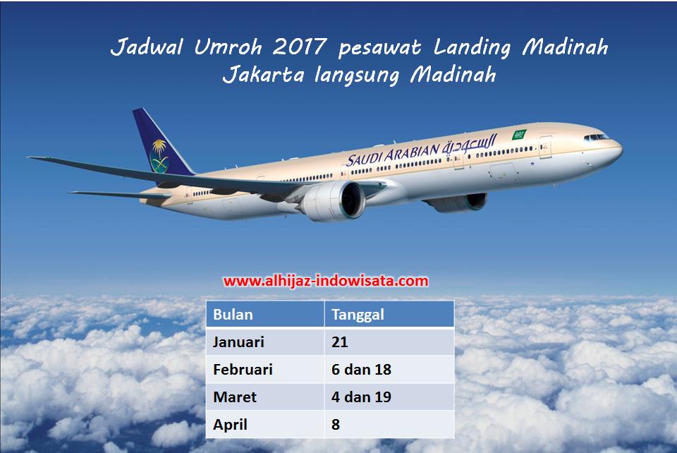 paket umroh 2017 landing Madinah