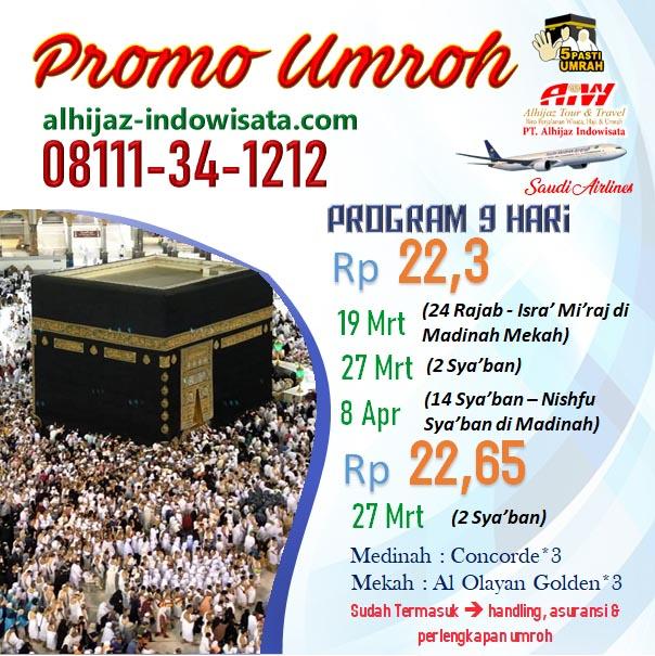 PROMO UMROH MURAH 9 HARI 2020
