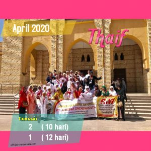 PAKET UMROH PLUS THAIF APRIL 2020
