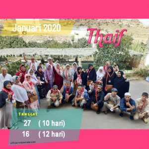 PAKET UMROH PLUS THAIF JANUARI 2020