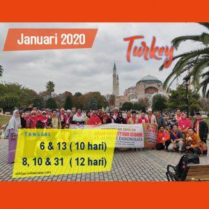paket umroh plus turki januari 2020