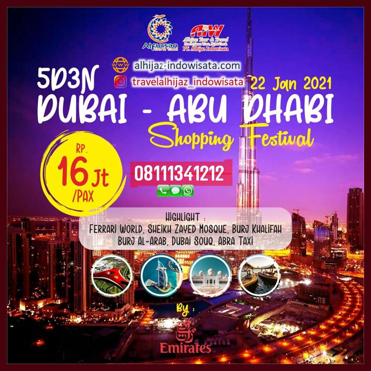 TOUR DUBAI ABUDHABI JANUARI 2021