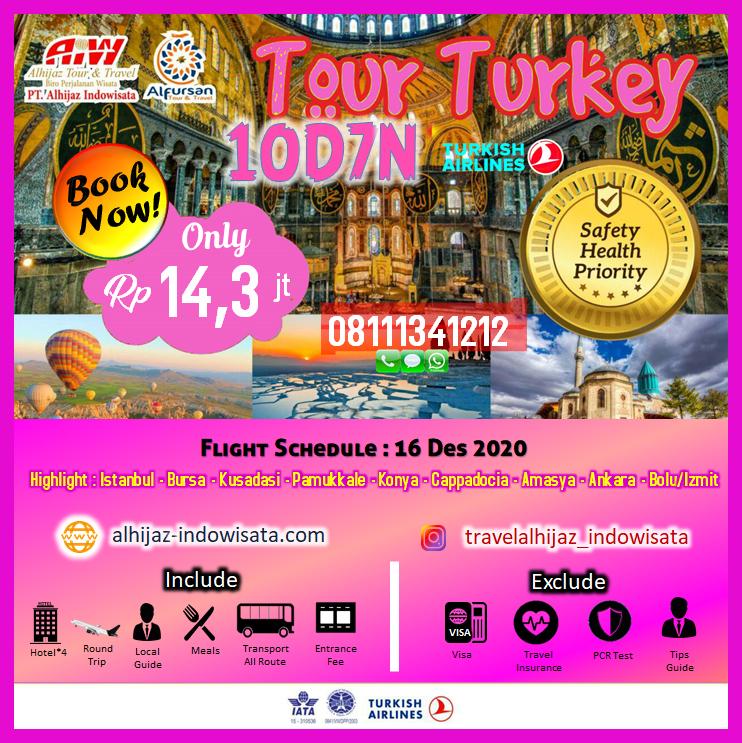 TOUR TURKI 10 HARI 7 MALAM AMASYA