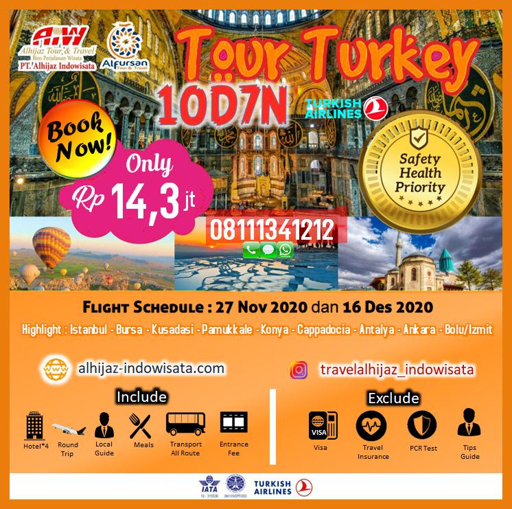 TOUR TURKI 10 HARI 7 MALAM ANTALYA