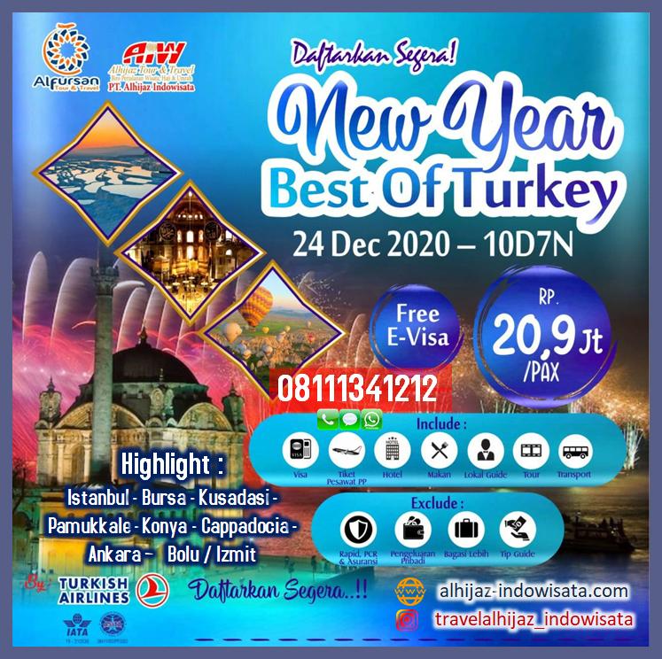 TOUR TURKI 10 HARI 7 MALAM NEW YEAR