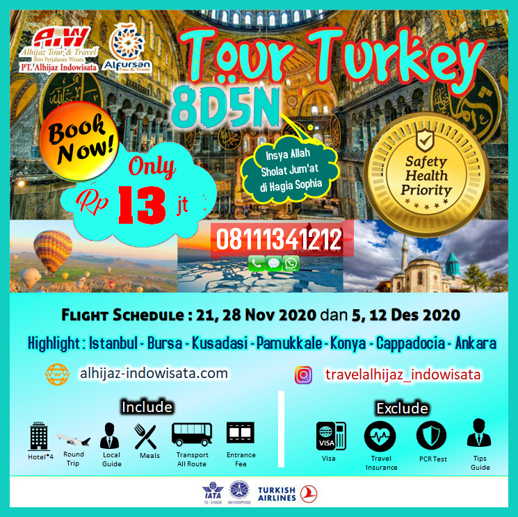 TOUR TURKI 8 HARI 5 MALAM